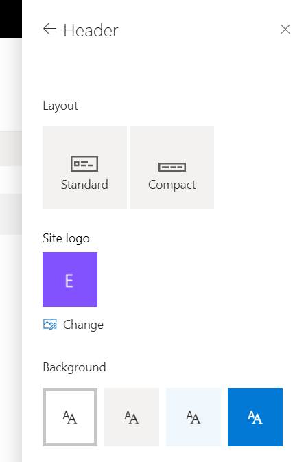 Change Header Layout in SharePoint Site