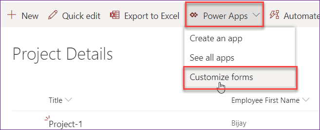 powerapps lookup sharepoint list