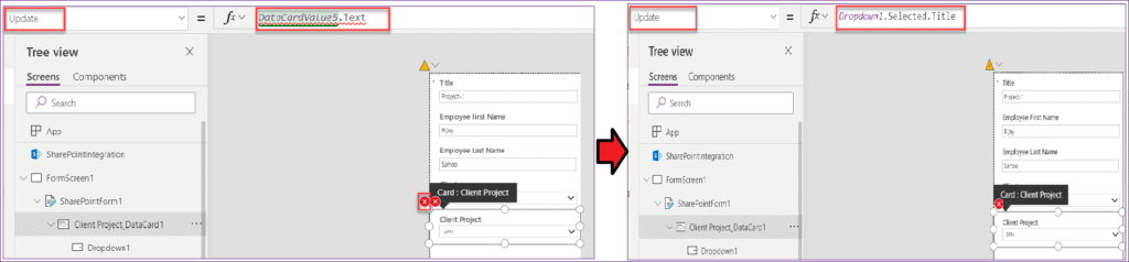 sharepoint list lookup column in powerapps