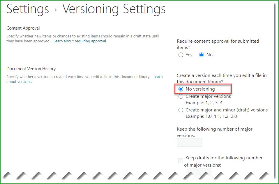 Disable Versioning in Document Library in SharePoint Online Powershell