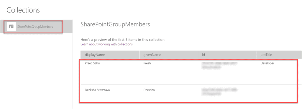 Display Group users in PowerApps Gallery