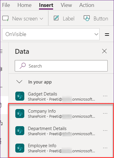 PowerApps Cascading Dropdown Sharepoint list Lookup columns