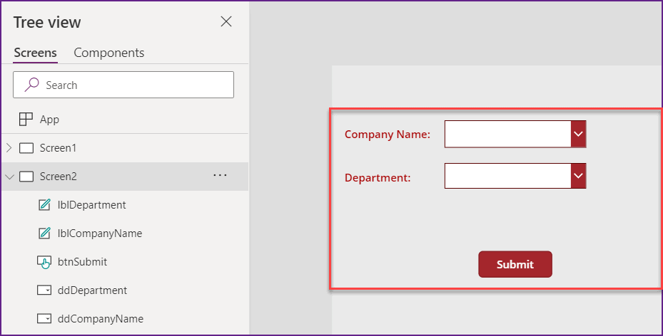 PowerApps Cascading Dropdown using Sharepoint list Lookup
