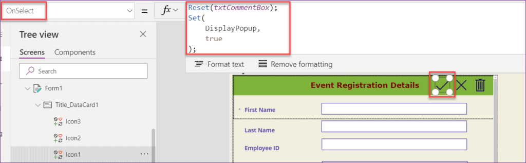 PowerApps Dialogue Component