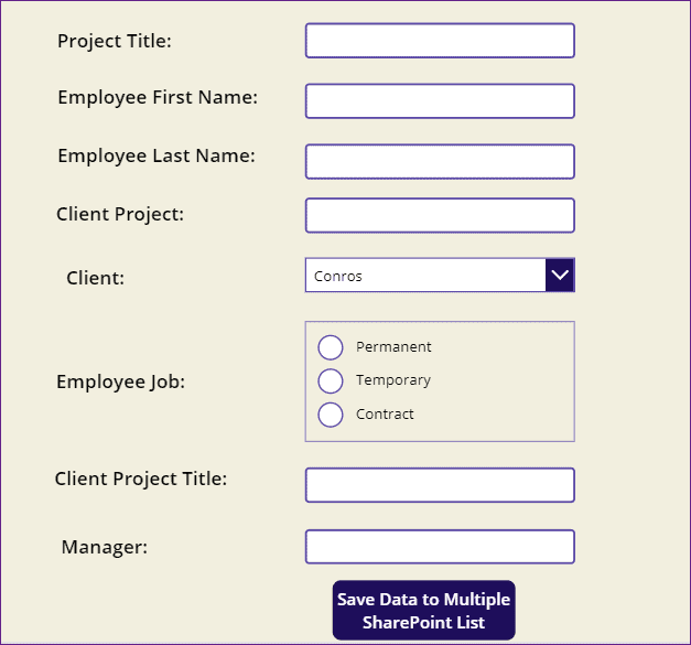 powerapps connect two sharepoint lists