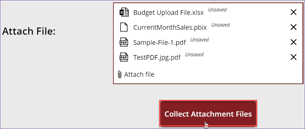 Powerapps Attachment Collection