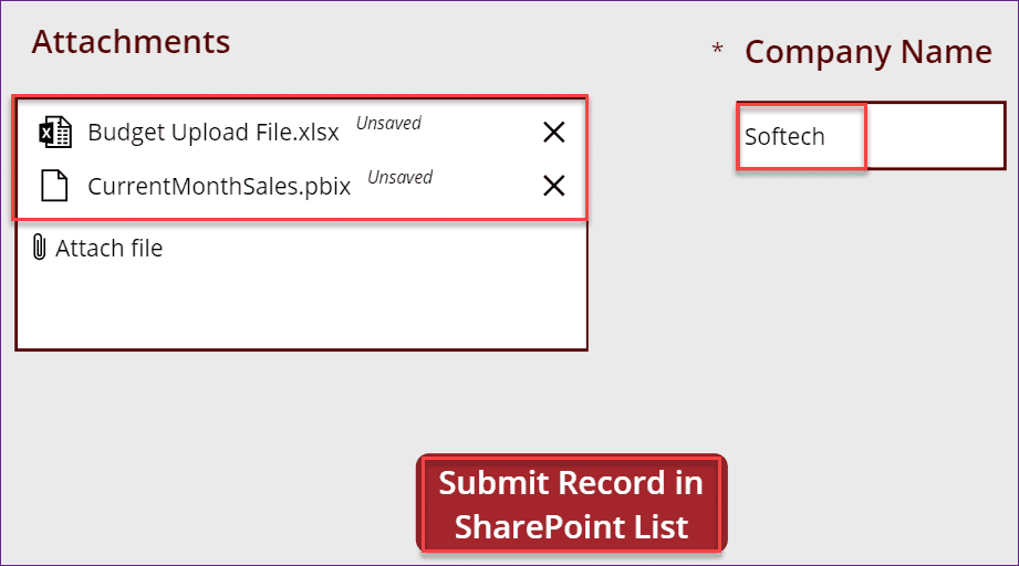 Powerapps add an attachment to SharePoint list