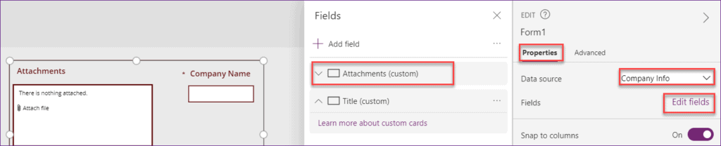 Powerapps patch attachment control