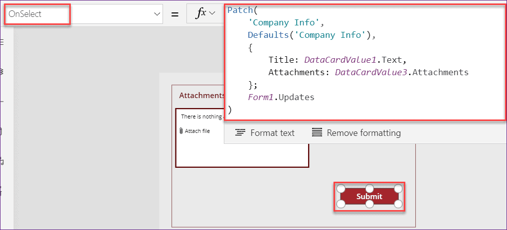 Powerapps patch attachments