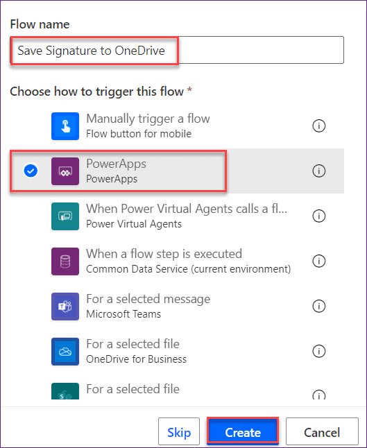 Powerapps pen input control to one drive
