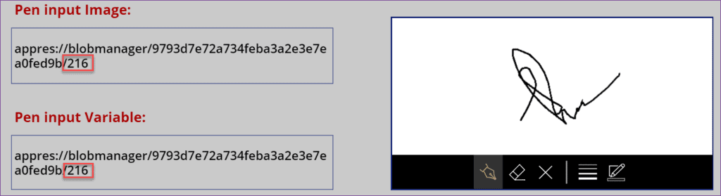 Powerapps pen input validation