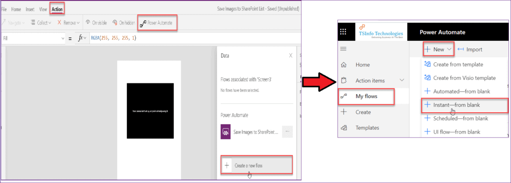 Powerapps upload image to SharePoint Library using flow