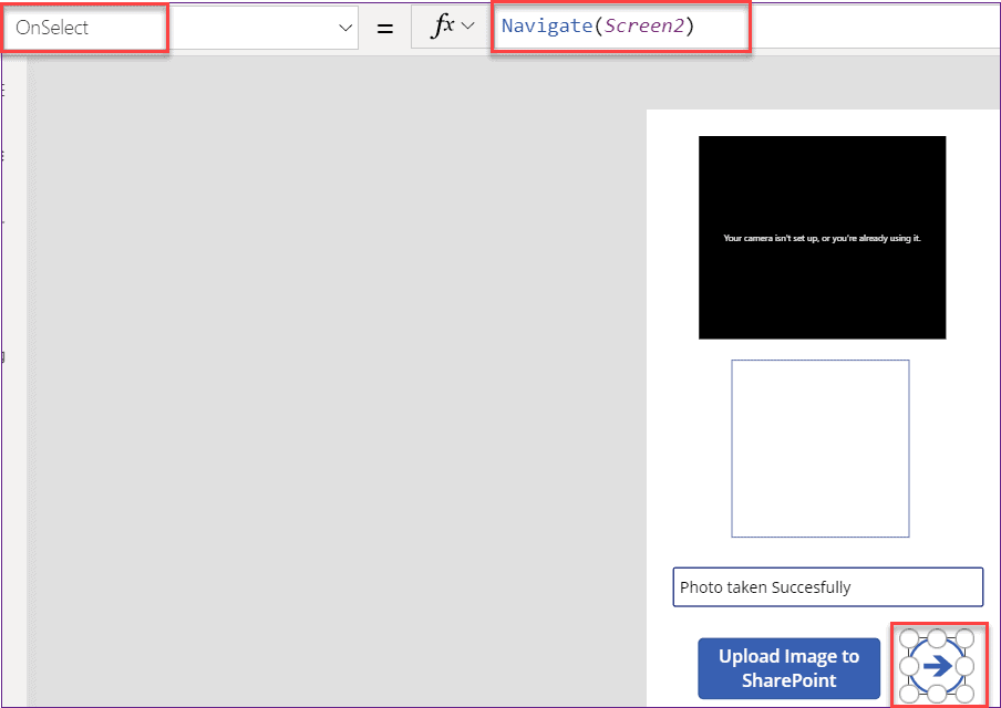 Save captured image in SharePoint list without using Powerapps flow