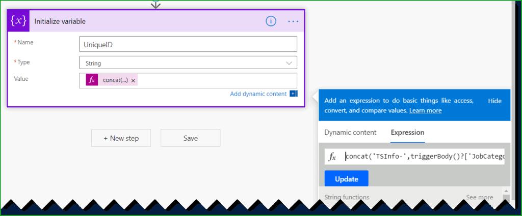 SharePoint auto generate column microsoft flow