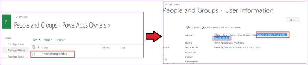get users from sharepoint group using powerapps
