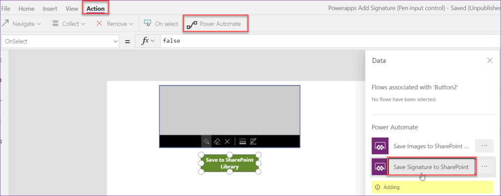 how to save Powerapps signature in SharePoint List