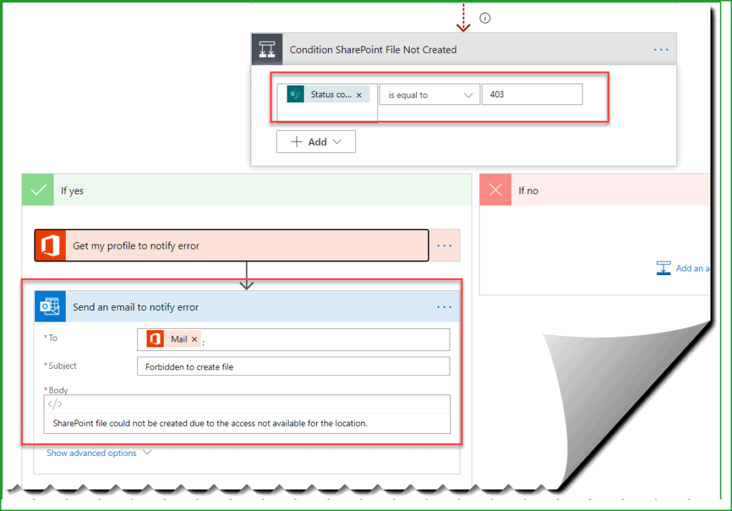 microsoft flow save my email attachments to a sharepoint document library