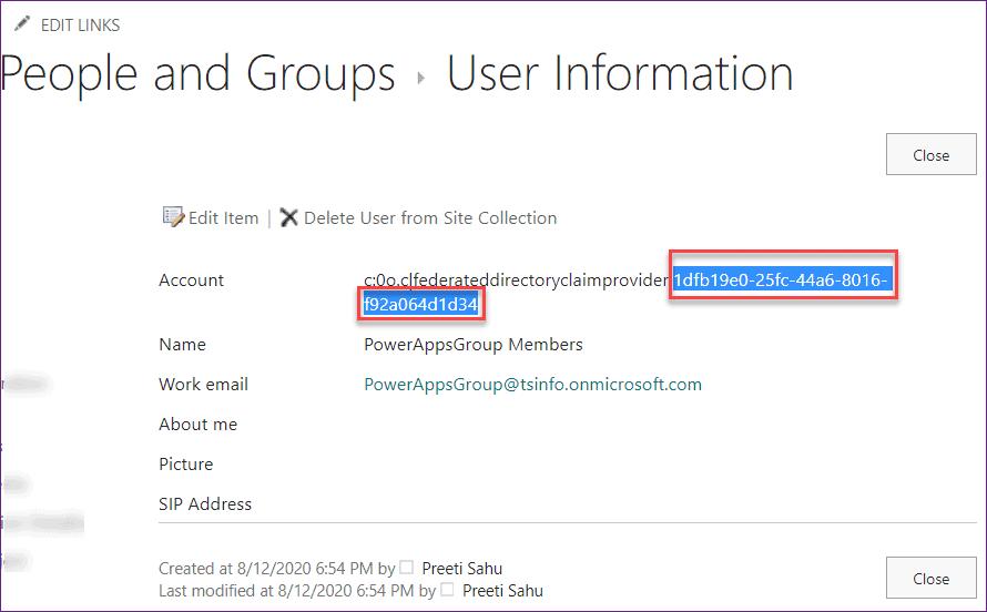 powerapps list group members