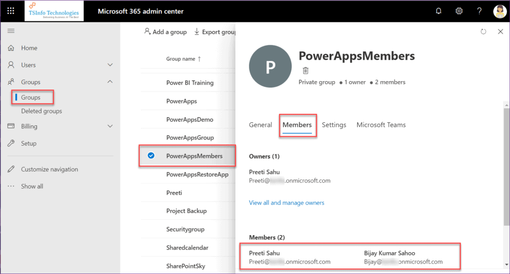 sharepoint group permission to powerapps fields