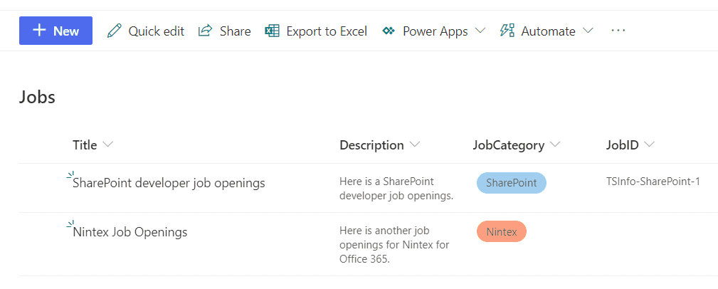 sharepoint list column auto generated value