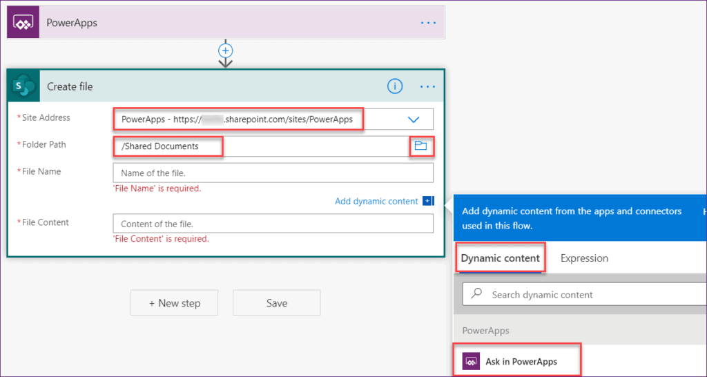 upload image to SharePoint Library using Powerapps flow