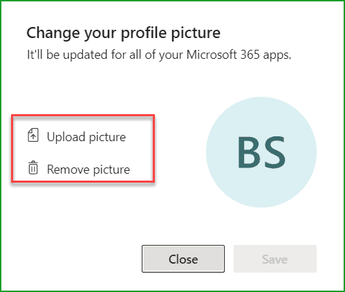 upload profile picture in Microsoft teams