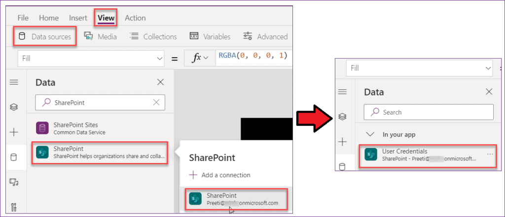 Create Powerapps Login page using SharePoint