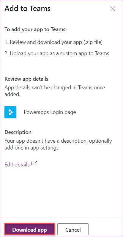 Embed PowerApps to Microsoft Teams