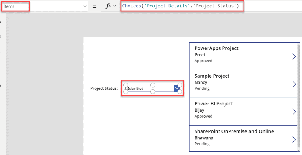 Filter Gallery by Dropdown control in PowerApps