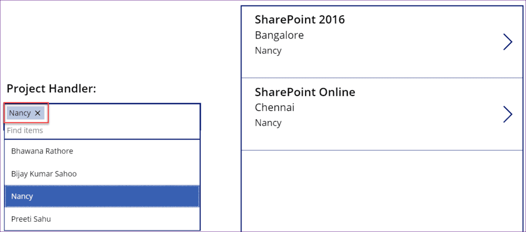 Filter Gallery by Text input control in PowerApps