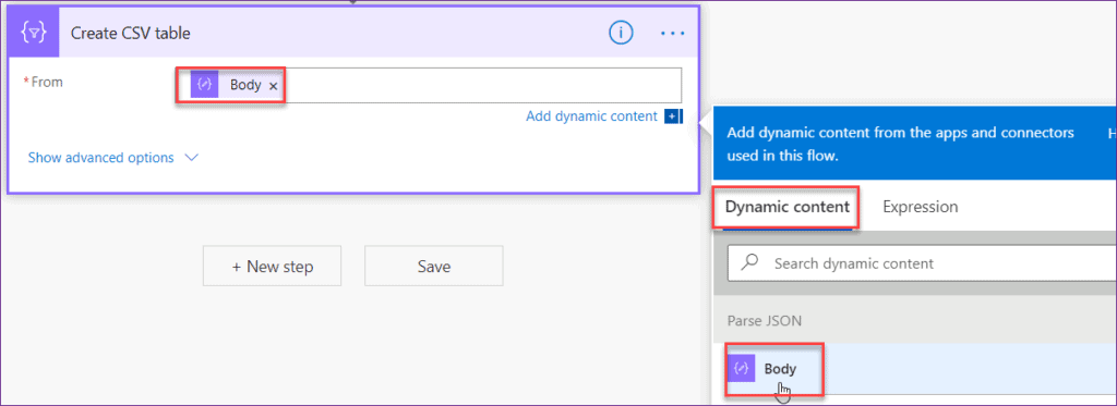 How to export Powerapps csv in SharePoint document