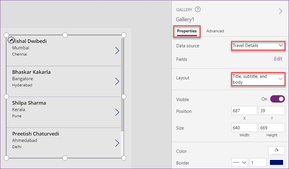 How to filter PowerApps Gallery control