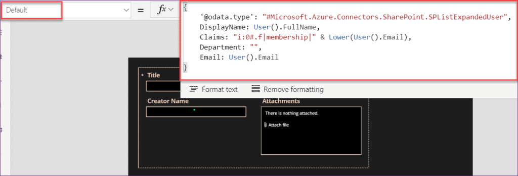 How to set Powerapps current user