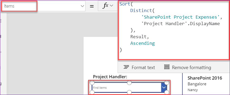 PowerApps Filter Gallery by Text input control