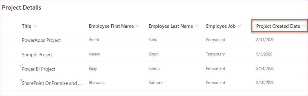 PowerApps create a Date filter
