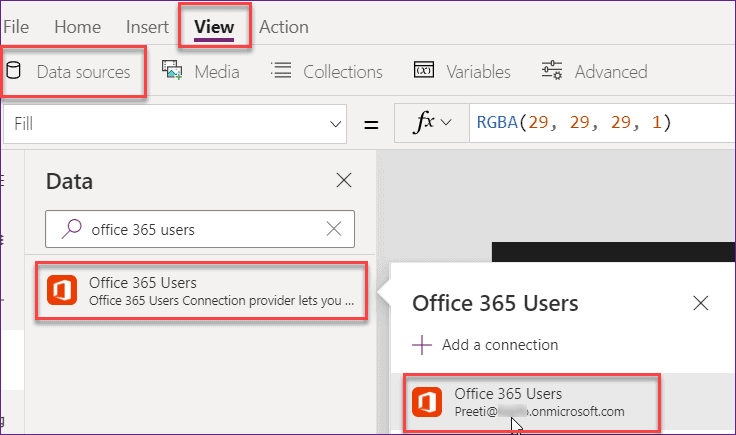PowerApps get current user id