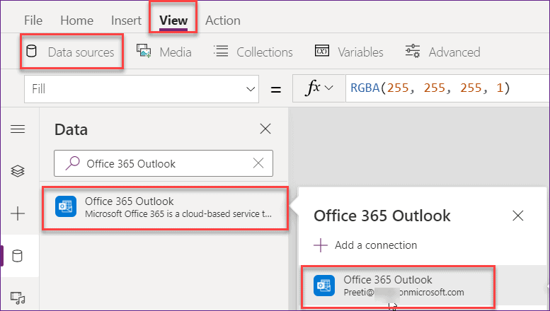 PowerApps send an email on button