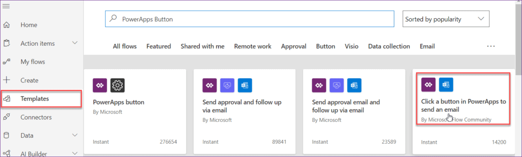PowerApps send an email on submit button