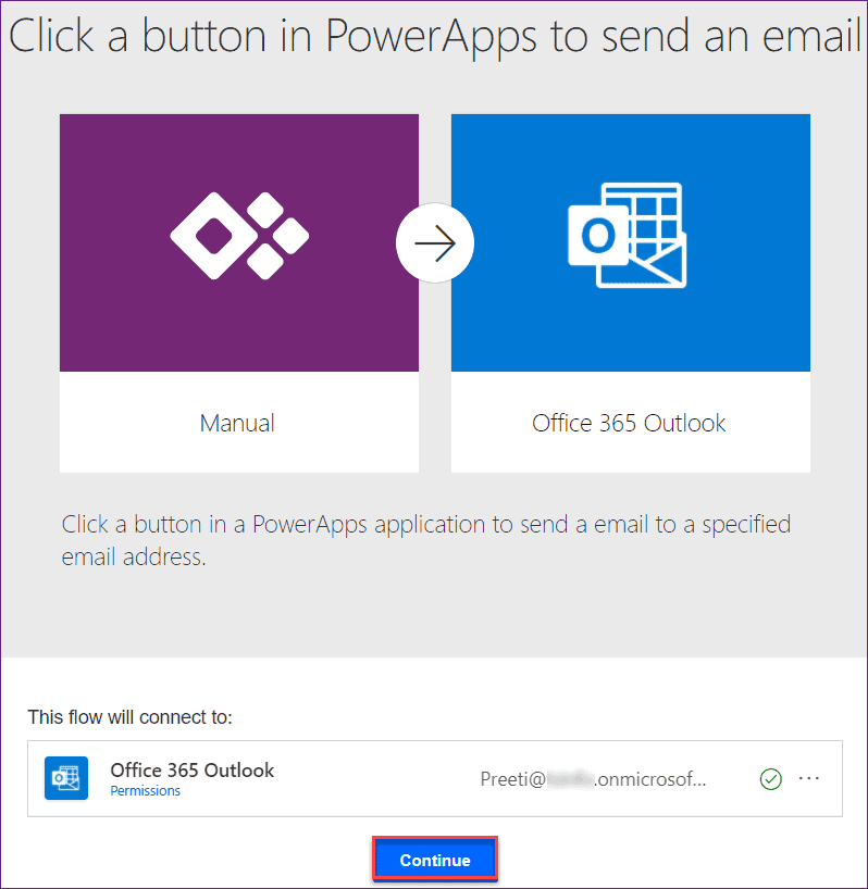 PowerApps send an email on submit