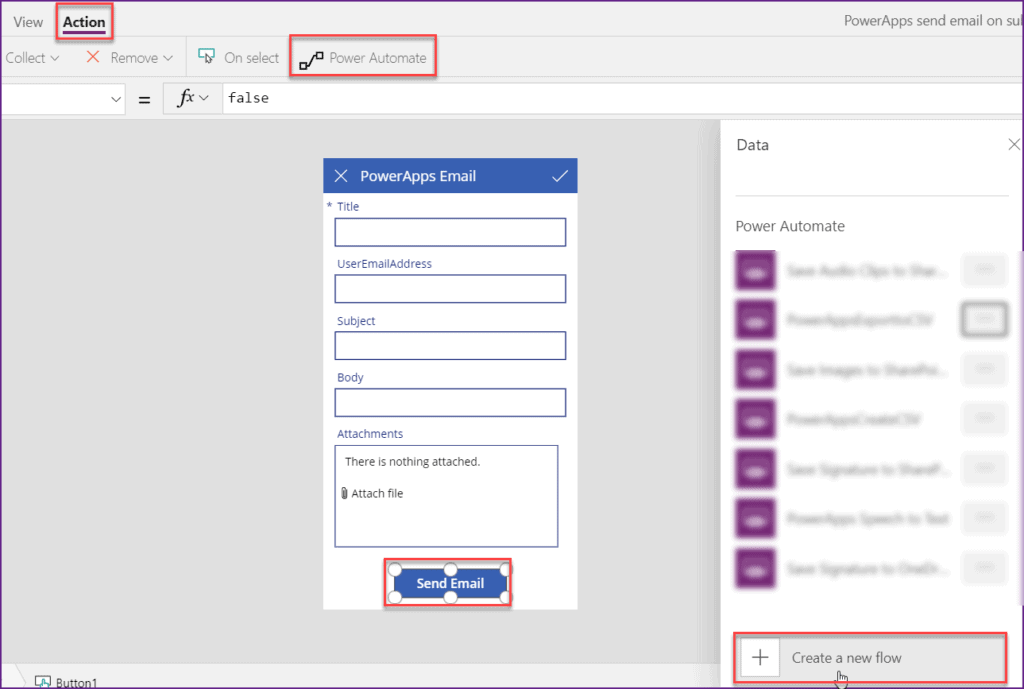PowerApps send email on submit button