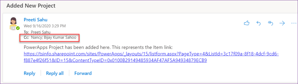 PowerApps send email to multiple recipients