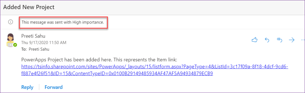 PowerApps send email to the current users
