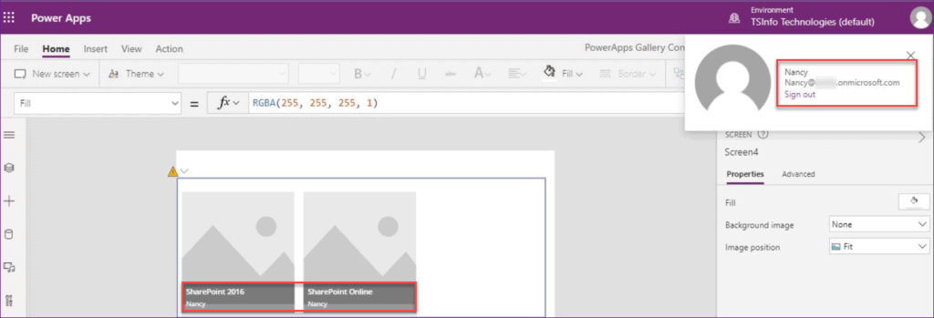 Powerapps gallery filter by current user