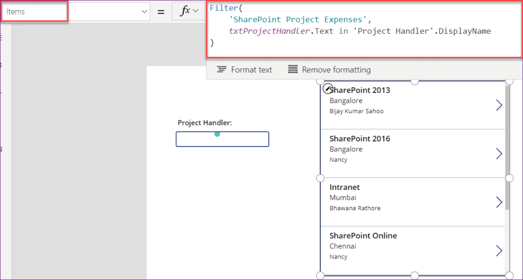 Powerapps gallery filter by text input