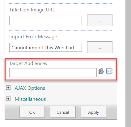SharePoint Online audience targeting for classic web parts