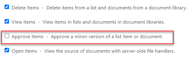 SharePoint content approval permissions