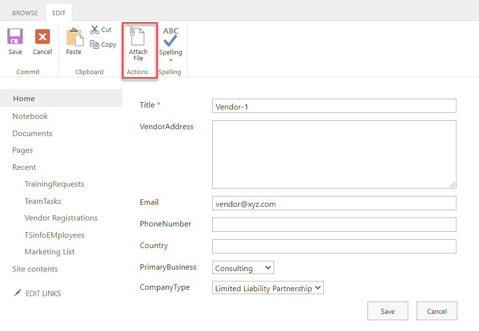 add attachment to sharepoint online classic list item