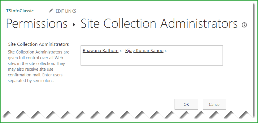 check sharepoint online site collection administrator