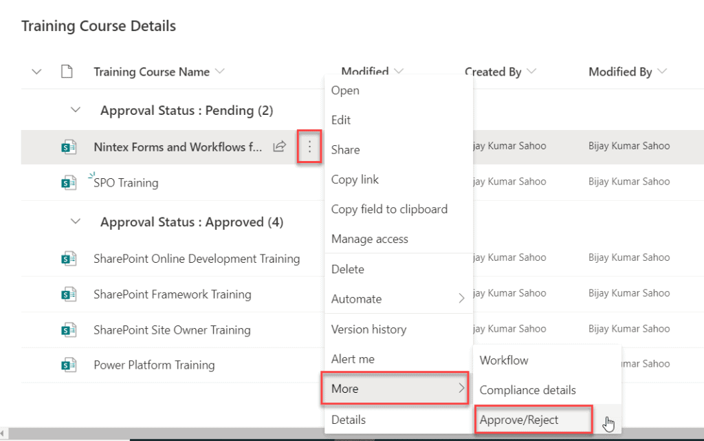 content approval in sharepoint list