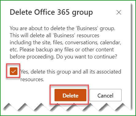 delete sharepoint group site